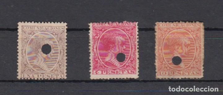 ESPAÑA. TELEGRAFOS. EDIFIL 226T-227T-228T. ALFONSO XIII TIPO PELÓN. (Sellos - España - Alfonso XIII de 1.886 a 1.931 - Nuevos)