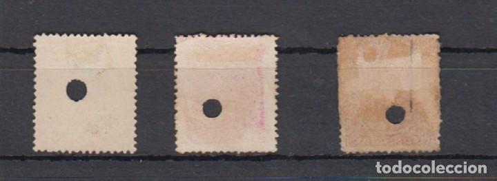 Sellos: ESPAÑA. TELEGRAFOS. EDIFIL 226T-227T-228T. ALFONSO XIII TIPO PELÓN. - Foto 2 - 194870380
