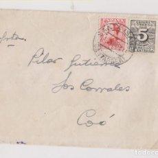 Sellos: SOBRE. 1931. SANTA ISABEL, CANTABRIA. DERECHO DE ENTREGA. BONITO FECHADOR. Lote 194960276