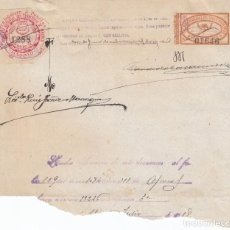 Sellos: 1918 SELLO DE 3 PTS PARA LEGALIZAR Y SELLO DE LEGALIZACIONES DEL COLEGIO NOTARIAL DE MADRID. Lote 194961760