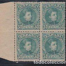 Sellos: ESPAÑA.- Nº 249 ALFONSO XIII EN BLOQUE DE CUATRO NUEVO SIN CHARNELA. . Lote 195019053