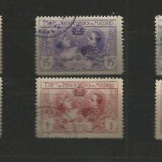 Sellos: ESPAÑA.1907.EXPOSICIÓN DE INDUSTRIAS DE MADRD.EDIFIL SR1/SR6.SERIE COMPLETA USADOS. Lote 195149116