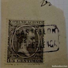 Sellos: CARTERÍA CASTELLON TORREBLANCA ALFONSO XIII PELÓN. Lote 195158221