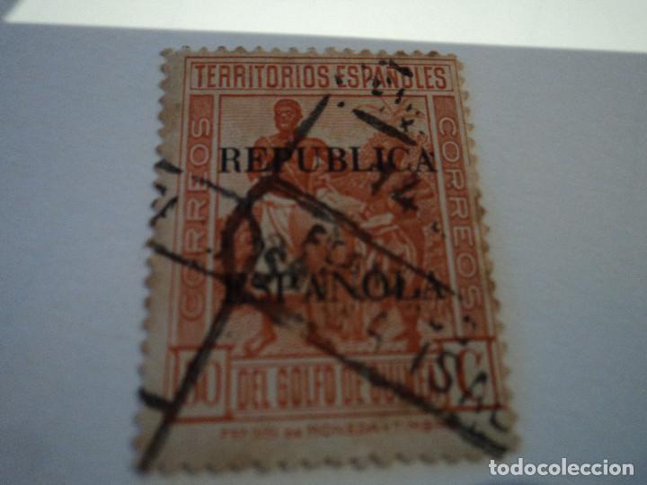ESCASO SELLO USADO DE GUINEA 50 CTS NARANJA 1931 (Sellos - España - Alfonso XIII de 1.886 a 1.931 - Usados)