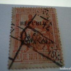 Sellos: ESCASO SELLO USADO DE GUINEA 50 CTS NARANJA 1931. Lote 195216685