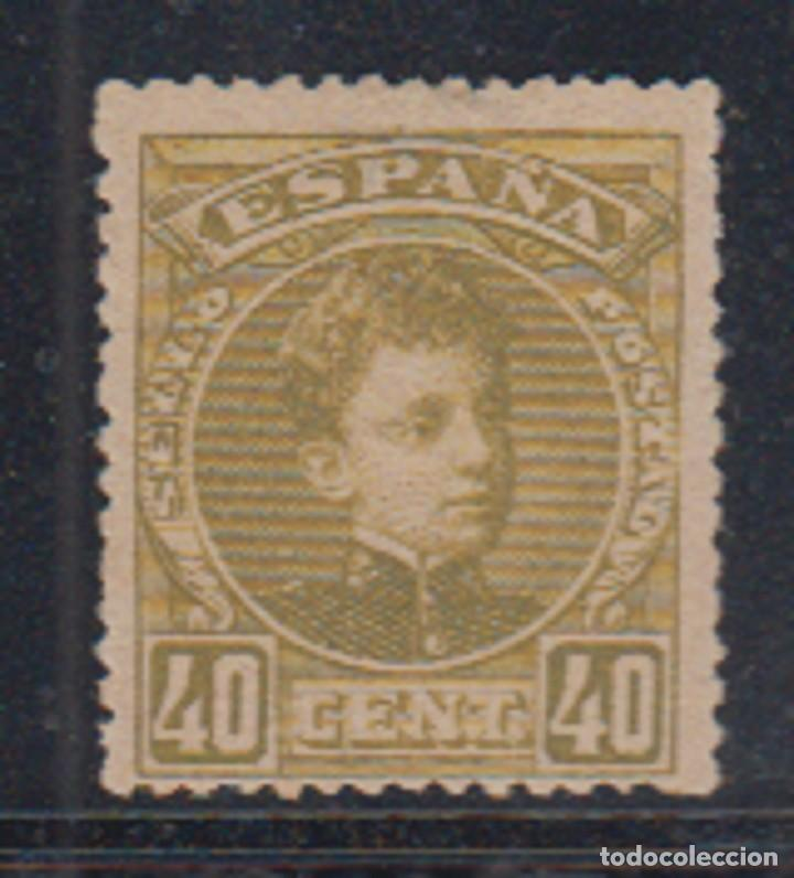ESPAÑA. EDIFIL 250 *. 40 CT VERDE OLIVA ALFONSO XIII TIPO CADETE. CATÁLOGO 135 €. (Sellos - España - Alfonso XIII de 1.886 a 1.931 - Nuevos)