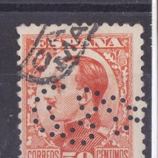 Sellos: AA12- ALFONSO XIII VAQUER PERFIL 50 CTS PERFORADO. Lote 195281896
