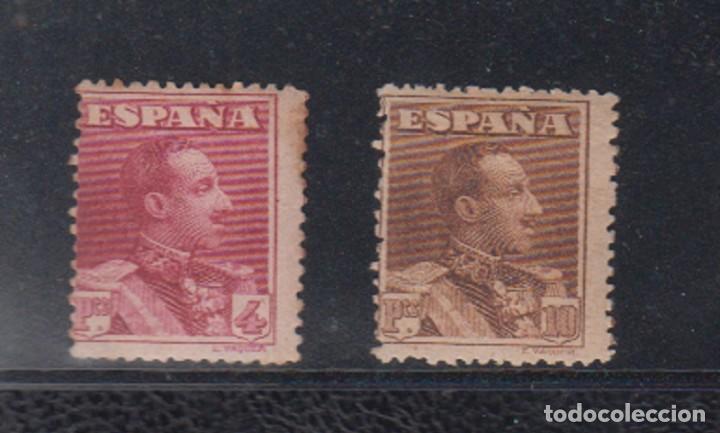ESPAÑA. EDIFIL 322 * - 323 *. 4 Y 10 PTAS ALFONSO XIII TIPO VAQUER. CATÁLOGO 142 € (Sellos - España - Alfonso XIII de 1.886 a 1.931 - Nuevos)