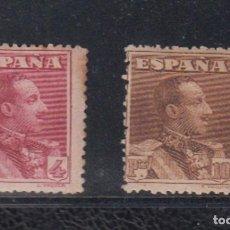 Sellos: ESPAÑA. EDIFIL 322 * - 323 *. 4 Y 10 PTAS ALFONSO XIII TIPO VAQUER. CATÁLOGO 142 €. Lote 195320787