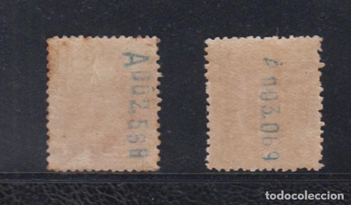 Sellos: ESPAÑA. EDIFIL 322 * - 323 *. 4 Y 10 PTAS ALFONSO XIII TIPO VAQUER. CATÁLOGO 142 € - Foto 2 - 195320787
