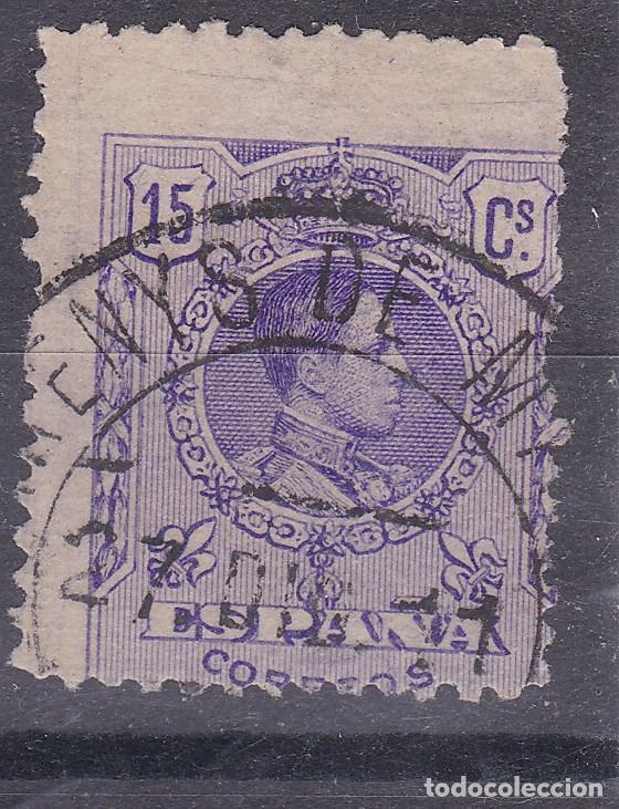 LL11- ALFONSO XIII MEDALLON VARIEDAD DENTADO USADO ARENYS DE MAR (Sellos - España - Alfonso XIII de 1.886 a 1.931 - Usados)