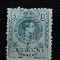 Sellos: CORREOS ESPAÑA, 5 CTS, ALFONSO XIII, AÑO 1909. SIN USAR . Lote 195422927