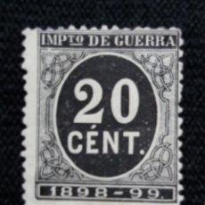 Francobolli: CORREOS ESPAÑA, 20 CTS, IMPUESTO DE GUERRA, AÑO 1898. SIN USAR . Lote 195424262