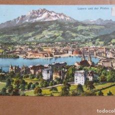 Sellos: POSTAL DE LUZERN SUIZA CIRCULADA 1908 A SAN FERNANDO CADIZ. Lote 195447982