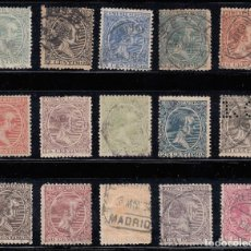 Sellos: 1889 EDIFIL 213/27 USADOS. ALFONSO XIII (220). Lote 195516786