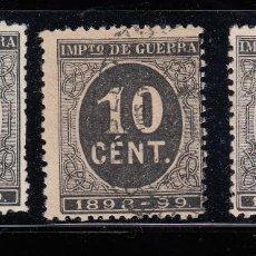 Sellos: 1898 EDIFIL 236, 237 Y 239(*) NUEVOS SIN GOMA. EL 237 USADO. CIFRAS (220). Lote 195518876