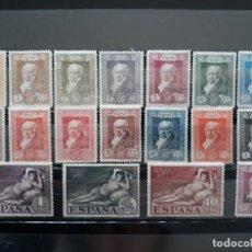 Sellos: SERIE COMPLETA QUINTA DE GOYA. ESPAÑA 1930. EDIFIL 499 * A 516 *. Lote 195530690