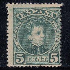 Sellos: 1901 EDIFIL 242* NUEVO CON CHARNELA. ALFONSO XIII TIPO CADETE. (220). Lote 195535397