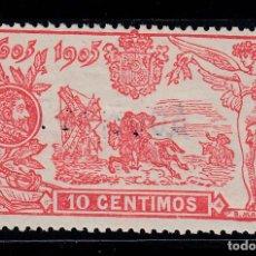 Sellos: 1905 EDIFIL 258* NUEVO CON CHARNELA. III CENTENARIO PUBLICACION QUIJOTE (220). Lote 195536497