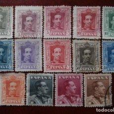 Sellos: PRIMER CENTENARIO - 1922 - 1930 - NUEVOS Y USADOS - ALFONSO XIII - TIPO VAQUER - EDIFIL 310/323 -.. Lote 195948616