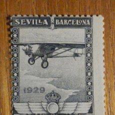 Sellos: EDIFIL Nº 452, PRO EXP. SEVILLA Y BARCELONA, 4 PTS NEGRO - AEREO, AÑO 1929 NUEVO, C/ GOMA, SIN SEÑAL. Lote 196239631