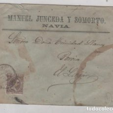 Timbres: SOBRE MANUEL JUNCEDA Y SOMORTO NAVIA. SELLO PELÓN.. Lote 196904271