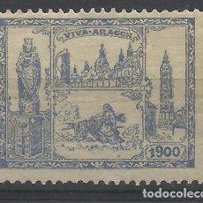 Sellos: VIVA ARAGON 1900 NUEVO(*). Lote 197511617