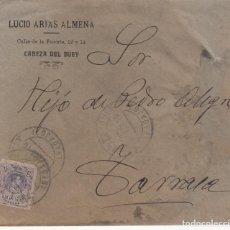 Sellos: SOBRE COMERCIAL DE LUCIO ARIAS ALMENA EN CABEZA DEL BUEY . Lote 197524595