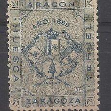 Sellos: ARAGON AZUL 1899 ZARAGOZA, HUESCA I TERUEL NUEVO(*). Lote 197532655