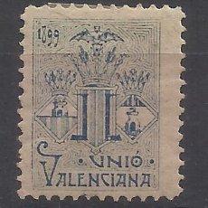 Sellos: UNIO VALENCIANA 1899 NUEVO* VALENCIA . Lote 197699393
