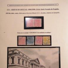 Sellos: CONGRESO DE LOS DIPUTADOS HOJA EXPOSICION 1896 SERIE SERVICIO OFICIAL. Lote 198048378