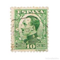 Sellos: [CF2707A] ESPAÑA 1930, REY ALFONSO XIII, 10 C. VERDE (U). Lote 198075070