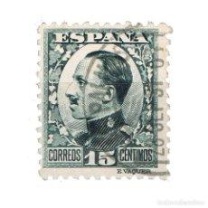Sellos: [CF2734A] ESPAÑA 1930, REY ALFONSO XIII, 15 C. PIZARRA VERDE (U). Lote 198075148