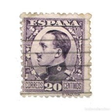 Sellos: [CF2828A] ESPAÑA 1930, REY ALFONSO XIII, 20 C. VIOLETA (U). Lote 198075200