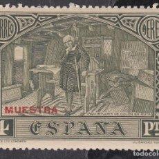Sellos: ESPAÑA.- SELLO Nº 557 MA DESCUBRIMIENTO NUEVO SIN HUELLA DE CHARNELA SOBRECARGA MUESTRA EN ROJO.. Lote 199199351