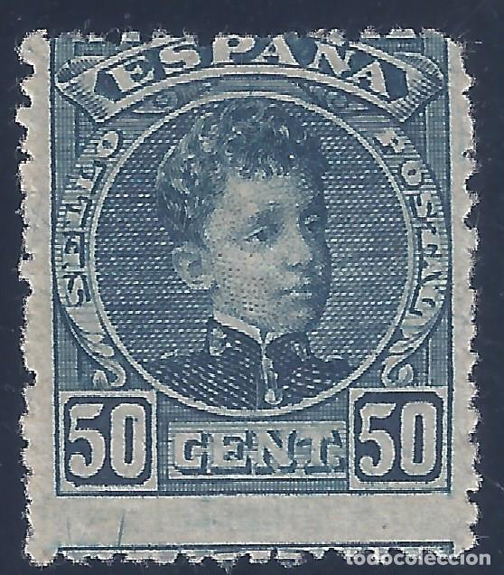 EDIFIL 252 ALFONSO XIII. TIPO CADETE. 1901-1905. VALOR CATÁLOGO: 55 €. MH * (Sellos - España - Alfonso XIII de 1.886 a 1.931 - Nuevos)