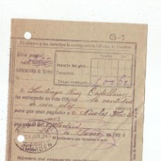 Sellos: RESGUARDO GIRO POSTAL AÑO 1924 . Lote 199510841