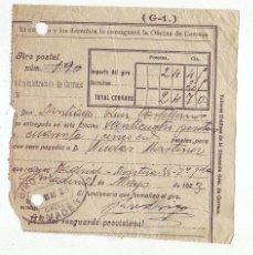 Sellos: RESGUARDO GIRO POSTAL AÑO 1923 . Lote 199511091
