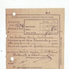 Sellos: RESGUARDO GIRO POSTAL AÑO 1923 . Lote 199511166