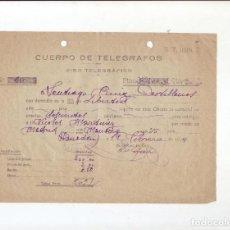 Sellos: CUERPO DE TELÉGRAFOS - GIRO TELEGRÁFICO - AÑO 1924. Lote 199657723