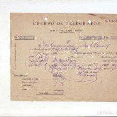 Sellos: CUERPO DE TELÉGRAFOS - GIRO TELEGRÁFICO - AÑO 1924. Lote 199657756