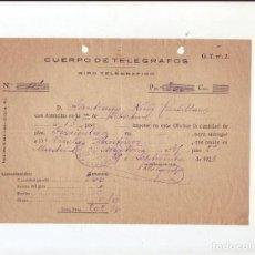Sellos: CUERPO DE TELÉGRAFOS - GIRO TELEGRÁFICO - AÑO 1923. Lote 199657788