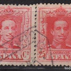 Sellos: 1922 - 1930 ALFONSO XIII TIPO VAQUER EDIFIL 317/317A(º) VC 19,00€. Lote 201277235