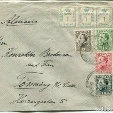 Sellos: 1930 CARTA SOBRE ALFONSO XIII TENERIFE ALEMANIA. HISTORIA POSTAL. Lote 201496833