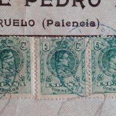 Sellos: LOTE DE 5 SELLOS 5 CENTIMOS ESPAÑA. PEGADOS. Lote 203171851