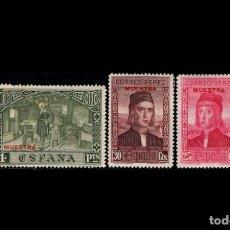 Sellos: ESPAÑA - 1930 - EDIFIL 552-553-557 - VARIEDAD - MUESTRA EN ROJO - MH* - NUEVOS.. Lote 203812703