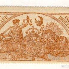 Sellos: SELLO FISCAL DE 1904- CLASE 11.- 1 PESETA.- CASTAÑO AMARILLO.-** (1). Lote 203911012
