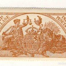 Sellos: SELLO FISCAL DE 1904- CLASE 11.- 1 PESETA.- CASTAÑO AMARILLO.-** (2). Lote 203912208