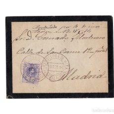 Sellos: CARTERÍA, MATASELLOS. REBOLLOSA DE HITA.(GUADALAJARA).1914.. Lote 203916858