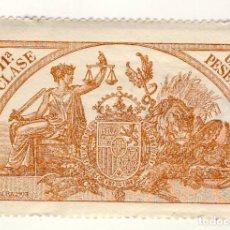 Sellos: SELLO FISCAL DE 1904- CLASE 11ª.- 1 PESETA.- CASTAÑO AMARILLO.-** (1). Lote 203974421